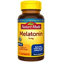 Nature Made Melatonin 5mg Tablets, 90 Count for Supporting Restful Sleep† (Packaging...