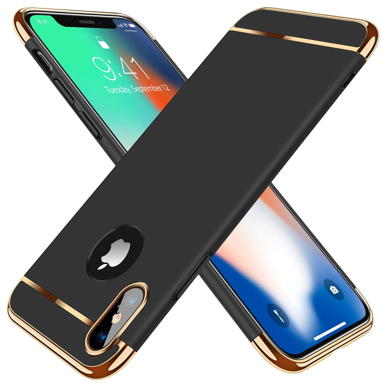 530430c0686d5f TORRAS iPhone X Case, iPhone Xs Case, 3 in 1 Hybrid Ultra Thin Slim Hard  Case with Anti-scratch Matte Finish Protective Plastic Phone Case Cover for  iPhone ...