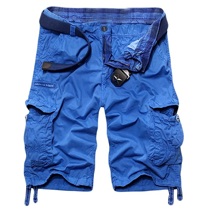 d3419904c9 Image Unavailable. Image not available for. Color: MLG Men's Baggy Fit  Multi Pocket Cargo Shorts Asia 34 ...