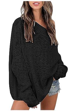 Mandy Womens Irregular Knitting Loose Sweatshirt Pullover Long Tops Blouse