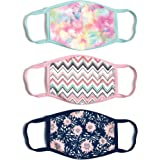ABG Accessories Women's 3-Pack Adult Fashionable Germ Protection, Reusable Fabric Face Mask