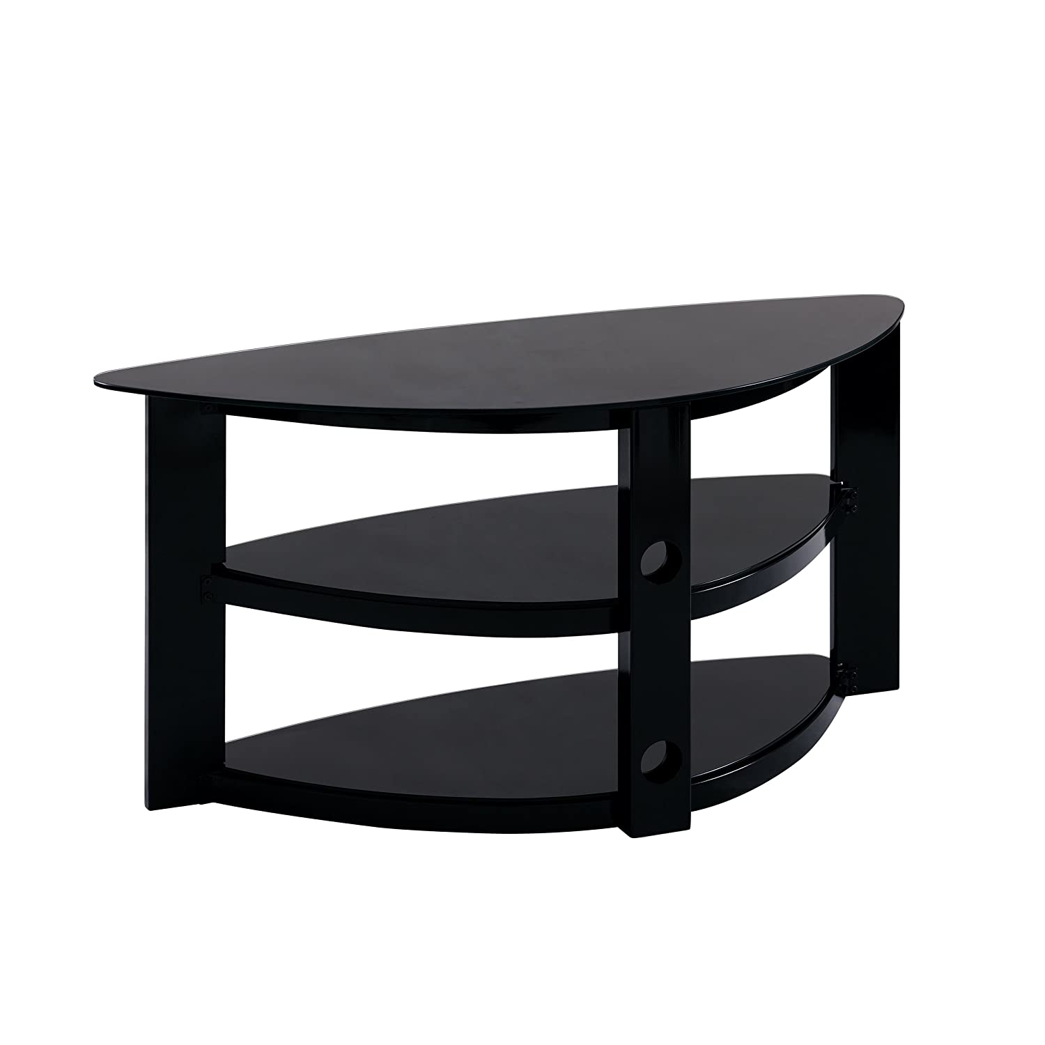 gaming tv stand Amazon.com: Furniture HotSpot Black Corner TV Stand-Gaming TV Stand:  Kitchen u0026 Dining