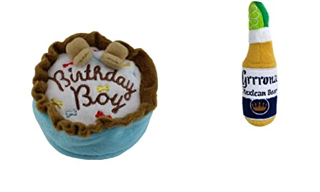 Haute Diggity Dog Birthday Cake And Grrrona Beer Plush Toy