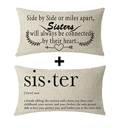 Niditw Great Gift For Sister Quote Side By Side Or Miles Apart