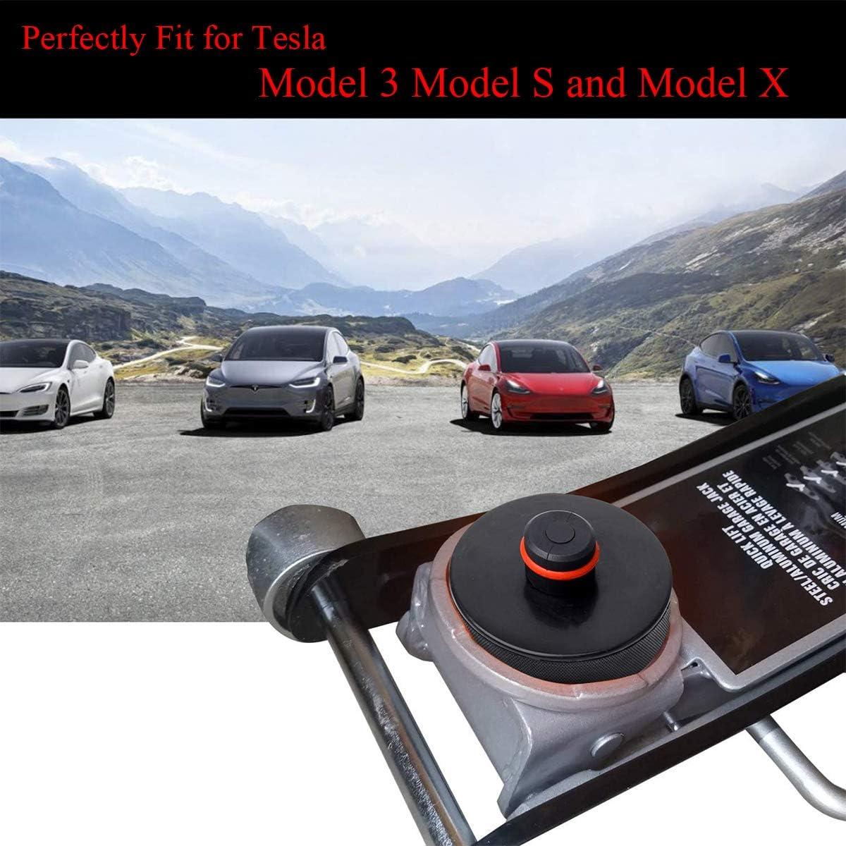topfit Tesla Model 3 Hubwagenheber Pad 4er Pack Jack Point Pad Stabiler Adapter Gummi Schutz f/ür Model 3 Model S Model X