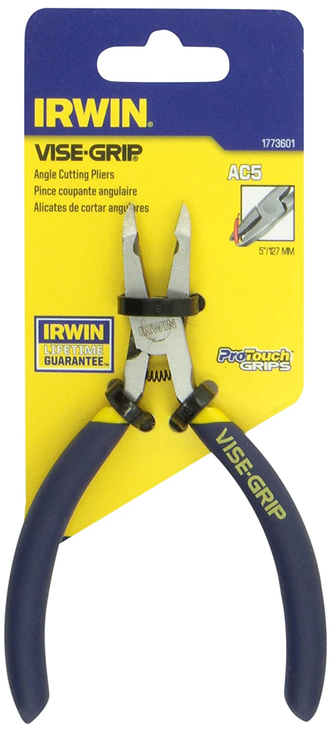 IRWIN Tools VISE-GRIP Angled Cutter with Spring, 4 1/2-Inch (1773601) - Needle Nose Pliers - Amazon.com