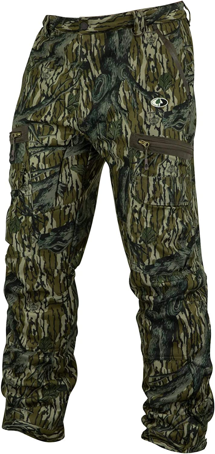Mossy Oak Mens Men's Camo Sherpa 2.0 Fleece Lined Hunting Pants