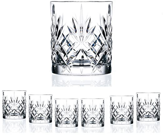Le'raze Italian Crystal DOF Glasses - Set of 6