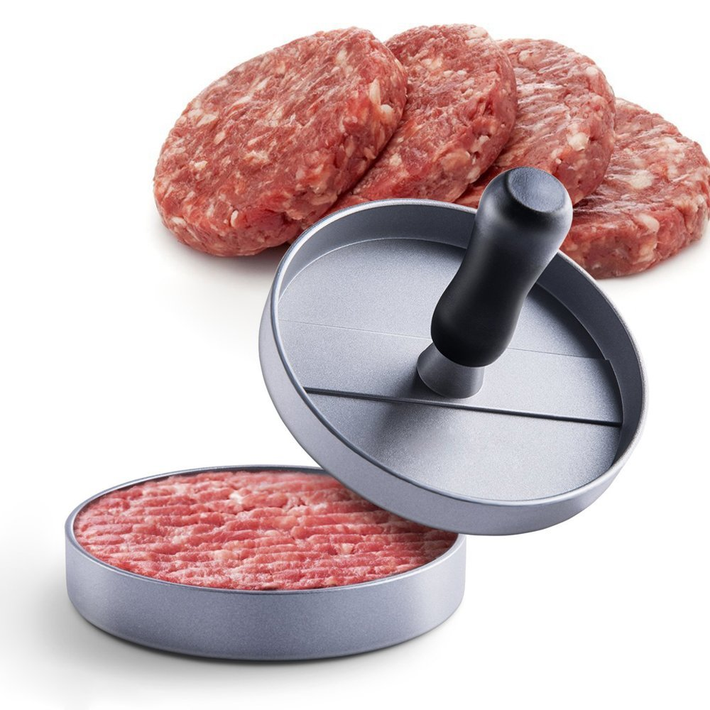 Cooking Stuffed Burger Press,Non-Stick Hamburger Patty Maker,Aluminum Kitchen Tool for BBQ Grill
