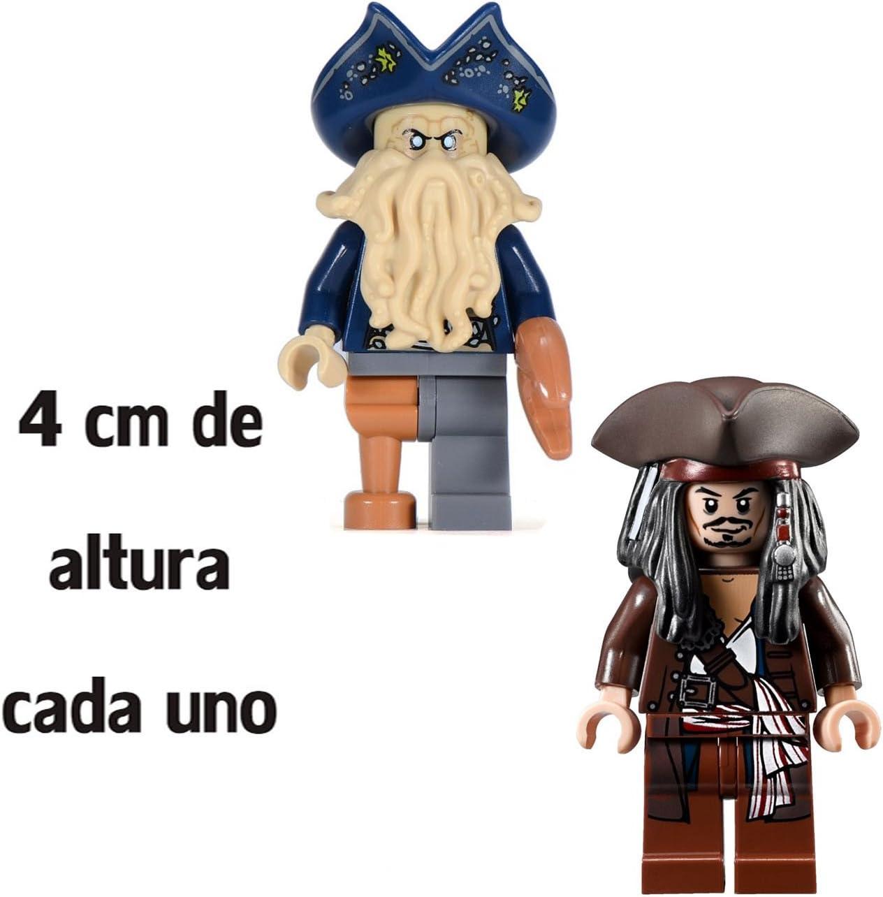 Pack Piratas del Caribe: Jack Sparrow y Davy Jones - Figuras 4 cm ...