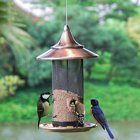Metal Pájaro Alimentador Al Aire Libre Balcón Jardín Comedero para Pájaros Atrae Pájaros Comer. Cacoffay,B: Amazon.es: Deportes y aire libre