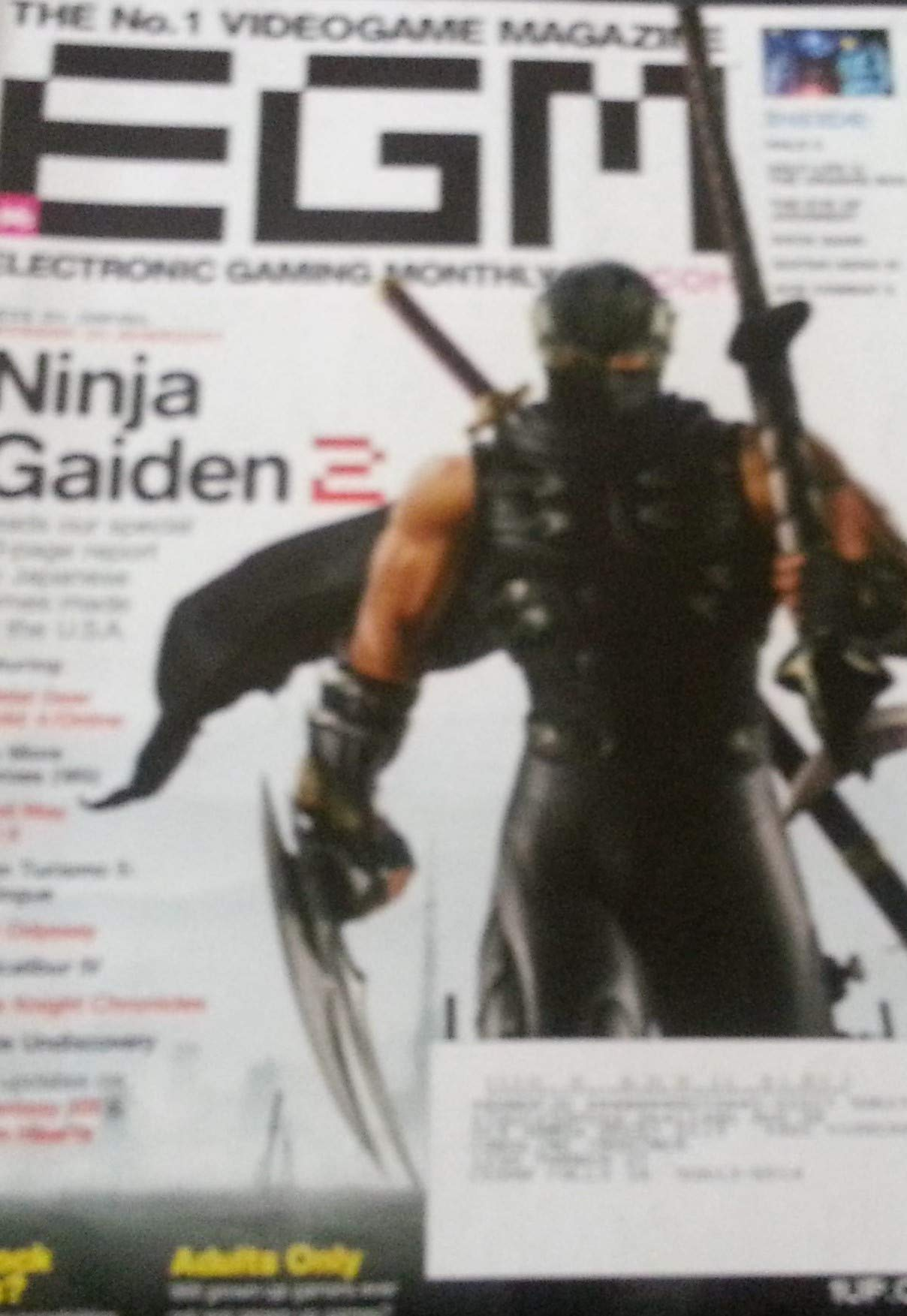 Electronic Gaming Monthly EGM December 2007 Ninja Gaiden 2 ...