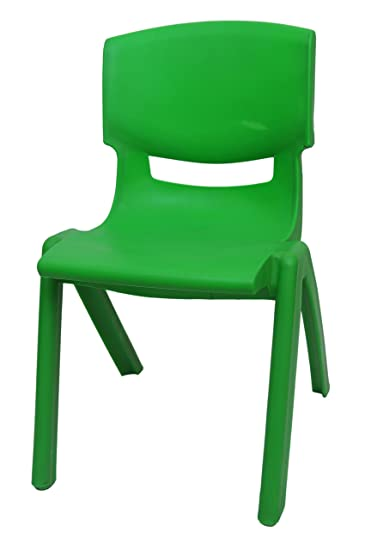 Happy Kids Strong And Durable Kids Plastic Chair (Small, Green)