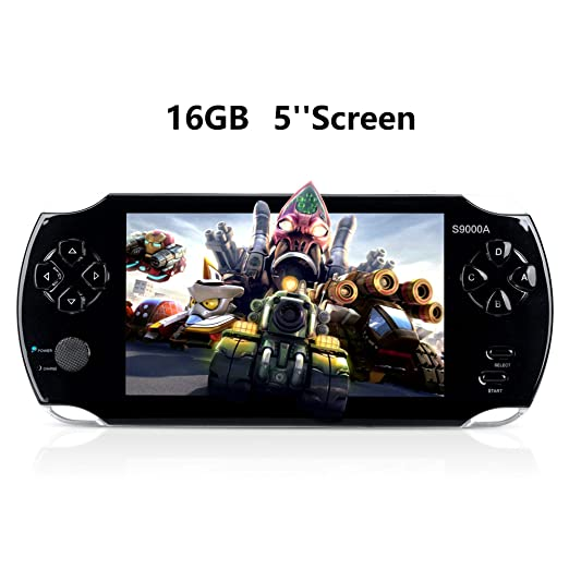 """Portable Video Game Console, 16GB 5 """"Screen 3000 Classic Games"""