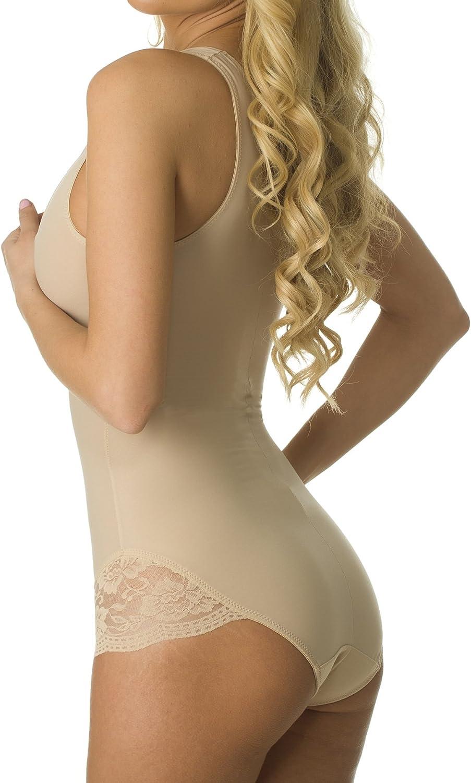 Velvet Kitten Lacey Accent Body Shaper Bodysuit #303538