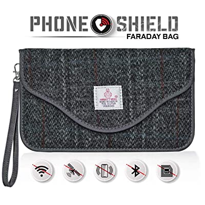 Faraday Bags for Key Fob and Cell Phone Signal Blocker, Faraday RFID Cage Car Keyless Radio Signal Blocking Guard Protector Pouch Gray Wallet