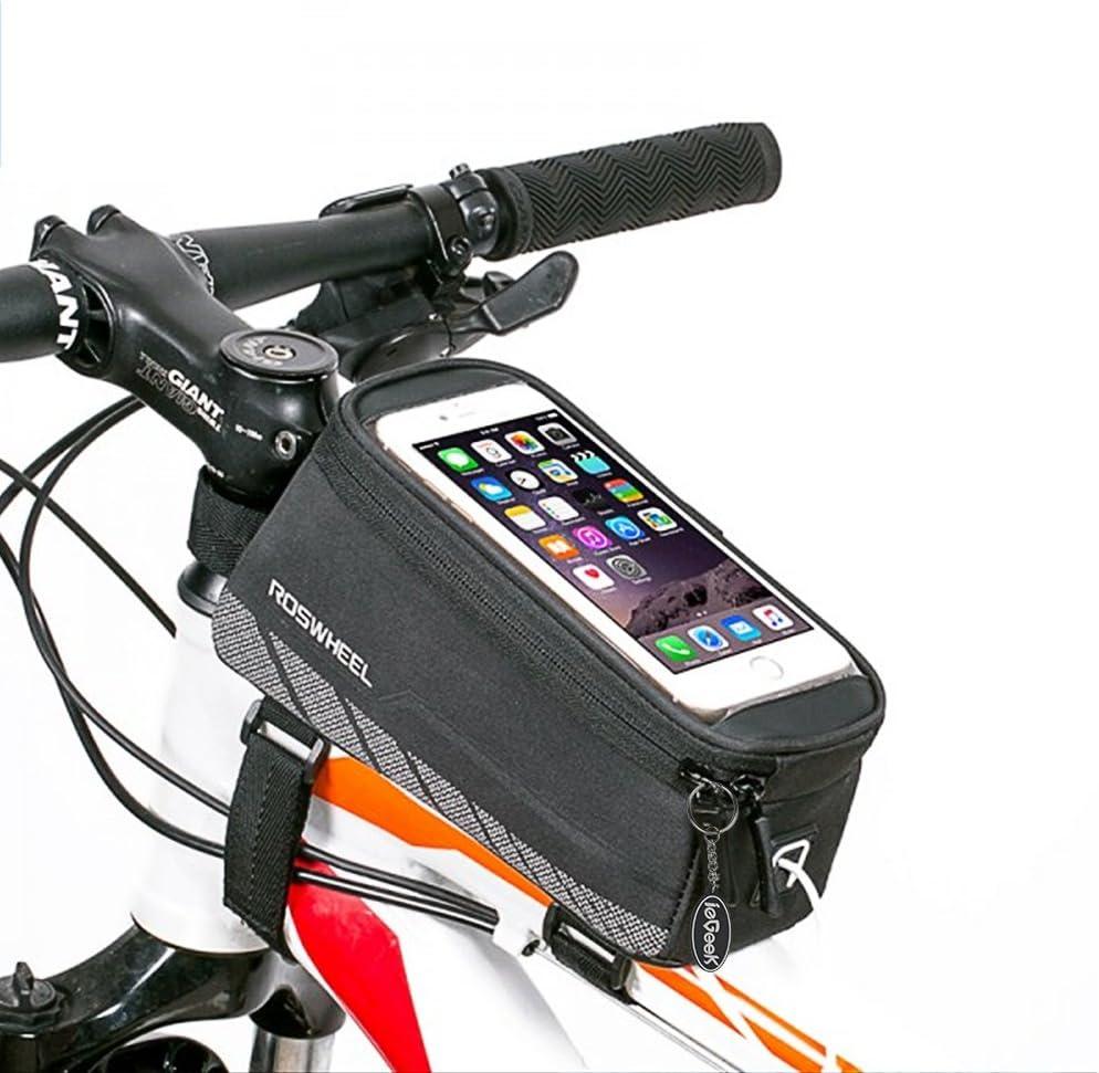 Bicicleta Roswheel superior tubo PVC transparente con marco bolsa ...