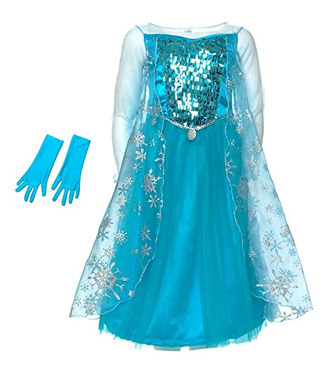 Disney Store costume bimba 3-4 anni Frozen Elsa carnevale  Amazon.it ... d059cd9104f