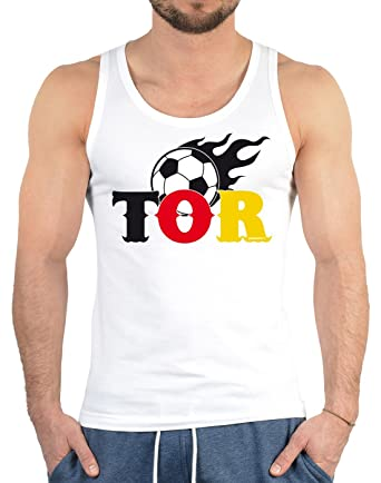 Fußball Fanshirt, Trikot, Trägershirt, Tank Top Herren - TOR! Fanartikel  perfekt zur