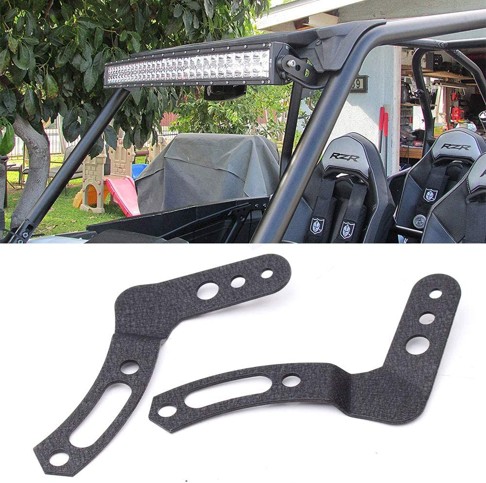 BLIAUTO 30 32 Inch LED Light Bar Mounting Brackets for Polaris RZR 900 1000 800 Models with Stock Roll Cage 2PCS
