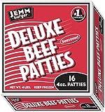 Jemm Deluxe Beef Patties 4# (4:1) 16 patties