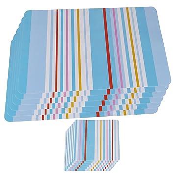 Platzsets Kunststoff Tischset Platzset Abwaschbar 6er Set 6