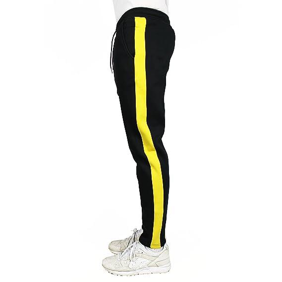 e2fcbe4870 Agora Yellow Stripe Sweatpants Joggers: Amazon.co.uk: Clothing