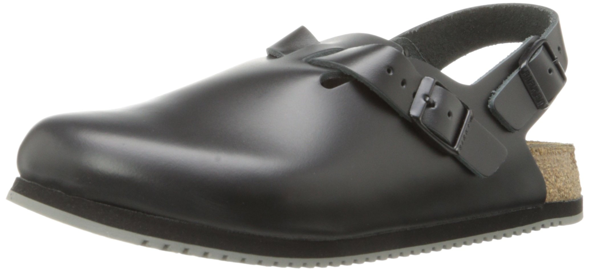 Birkenstock Unisex Professional Tokyo Super Grip Leather Slip Resistant Work Shoe,Black, 40 N EU/7-7.5 N US Men/ 9-9.5 N US Women