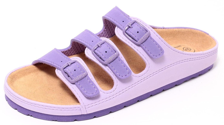 Damen Bio Clogs Tieffußbett Pantolette Sandale Slipper Schuhe KORALLE ROT Gr. 37-40 (39) f0jZVed