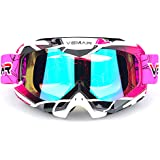 Motorcycle Motocross Goggles ATV Racing Goggles Dirt Bike Tactical Riding Motorbike Goggle Glasses, Bendable Windproof Dustpr