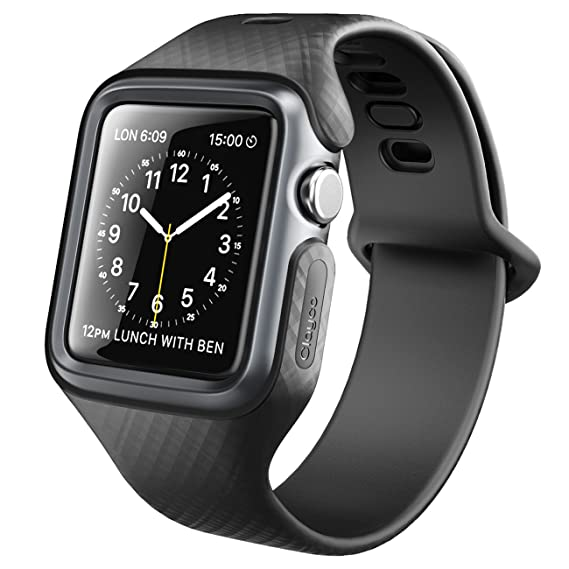 the best attitude f4f72 64b6c Clayco Apple Watch Band 38 mm, [Hera Series] Ultra Slim Protective Shock  Resistant Bumper Case with Strap Bands Compatible with 38mm Apple Watch ...