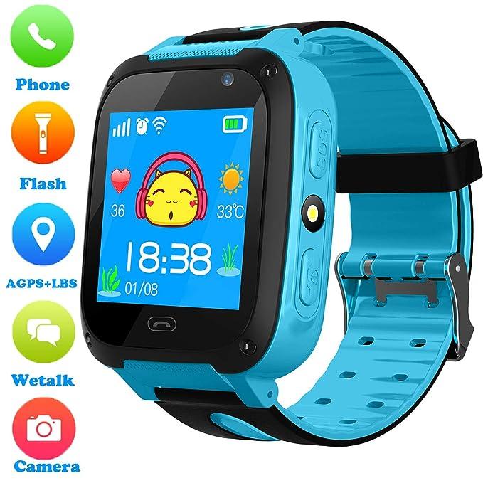 Niños Smartwatch - Localizador de posición GPS/LBS Reloj de Alarma SOS Infantil Relojes de Pulsera Cámara Digital Reloj móvil móvil Mejor Regalo para ...