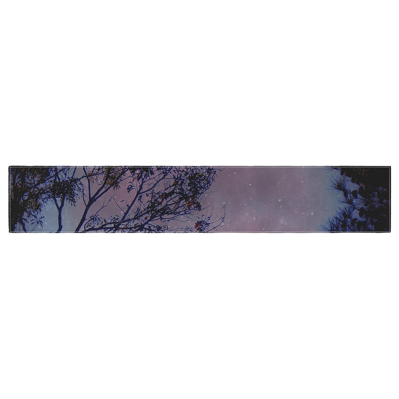 Kess InHouse Robin Dickinson Twilight Purple Tree Table Runner