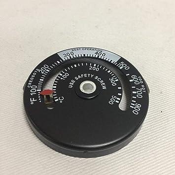 Estufa de leña de alta temperatura de la chimenea Chimenea controlador termómetro mecánico temperatura de combustión segura: Amazon.es: Bricolaje y ...