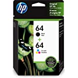 HP 64   2 Ink Cartridges   Black, Tri-color   Works with HP ENVY Photo 6200 Series, 7100 Series, 7800 Series, HP Tango and HP