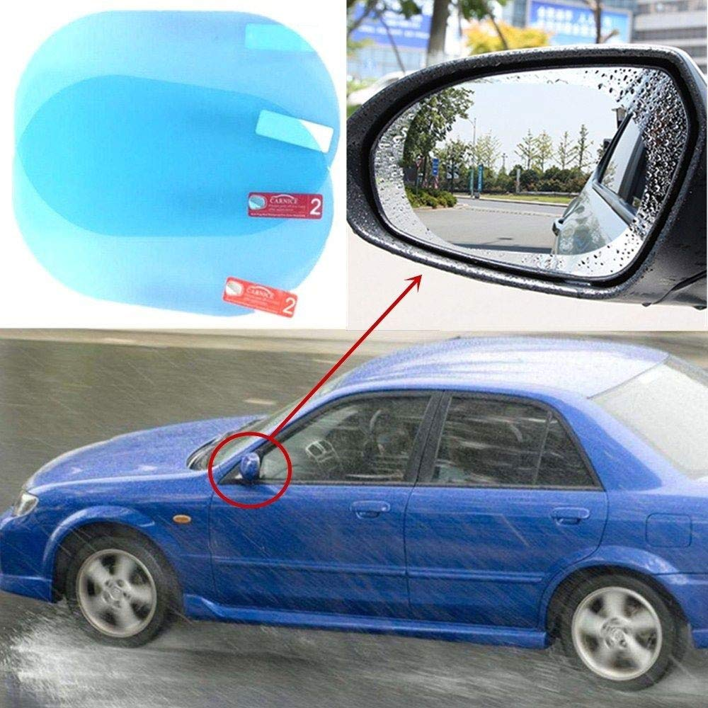 BENBW 1Set Car Rearview Mirror Protective Film Anti-Fog Protective Film Anti-Glare Anti-Scratch Rainproof (with Scraper and Alcohol pad) by BENBW (Image #6)