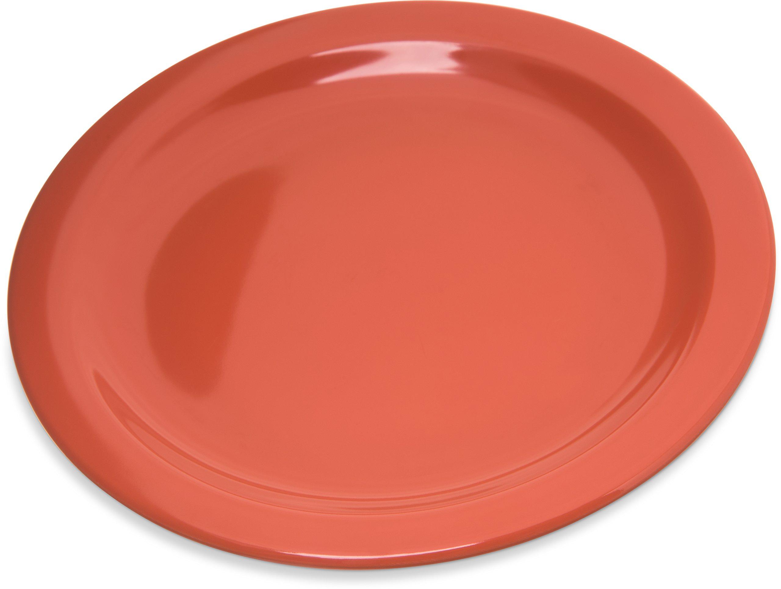 Carlisle 4350352 Dallas Ware Melamine Salad Plate, 7.19'' Diameter x 0.74'' Height, Sunset Orange (Case of 48)