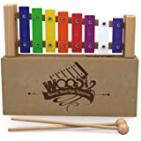 Glockenspiel Xylophone for Kids: Best for Your Little Musician - Create Magical Sounds with Little Hands; A Percussion Instrument with Multi-Colored Metal Keys and Two Child-Safe Wooden Mallets