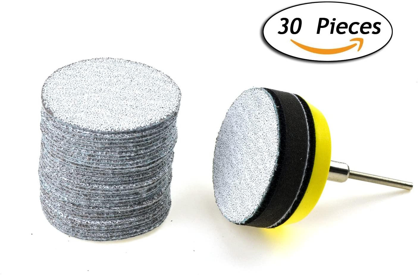 103pcs 2 Hook Loop Sanding Discs Assortment Kit 100pcs Multiple Grits Abrasive Sandpapers One 1//4 Shank Backing Pad and 2 Soft Foam Buffering Pads for Wood Metal Polishing