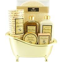 Baignoire de Bain - produits de beauté parfum chocolat - 6 Pcs, Coffret Cadeau-Coffret de bain