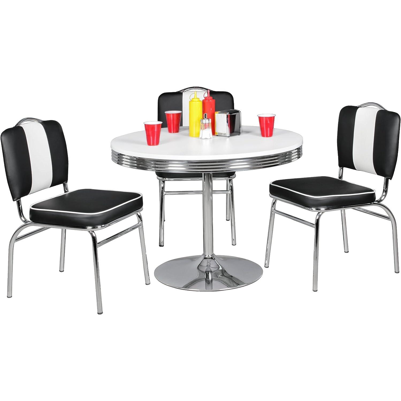 Wohnling Elvis - American Diner Esstisch, 98 x 76 cm aus MDF ...
