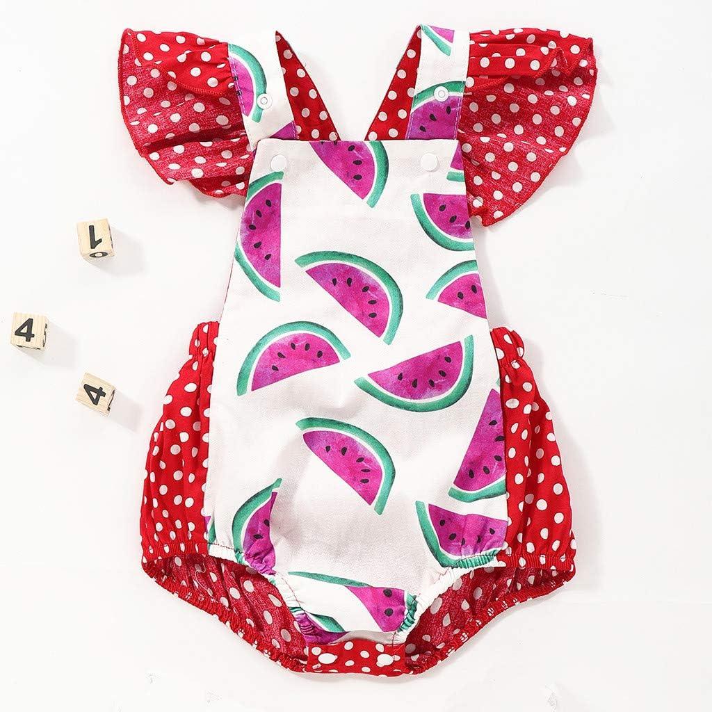 Conjunto de ropa de bebé con corpiño y estampado de sandía 18 ...
