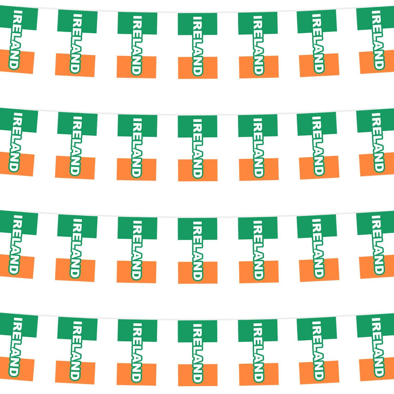 por Robelli Guirnalda de banderines de Irlanda 40 m, 4 Paquetes