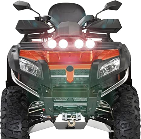 UTV ATV Truck TABEN 3Inch 6.5W Round LED Headlight Light Spot Fog Light Beam Cube Work Light IP68 Waterproof Driving Light for Off road Set of 2