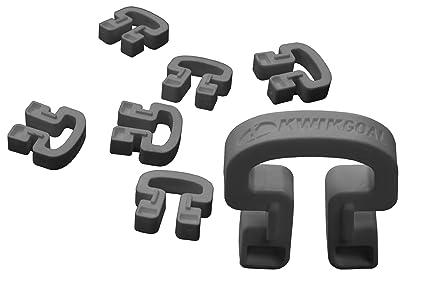 db63a3c1e Amazon.com: Kwik Goal Kwik Lock Net Clips (Pack of 100), Black ...