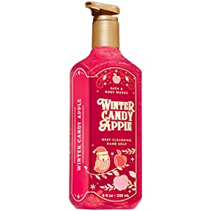 Bath and Body Works WINTER CANDY APPLE Deep Cleansing Hand Soap 8 Fluid Ounce (2019 Edition)