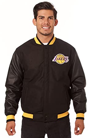 Los Angeles Lakers Reversible chaqueta de lana/nailon, Negro ...