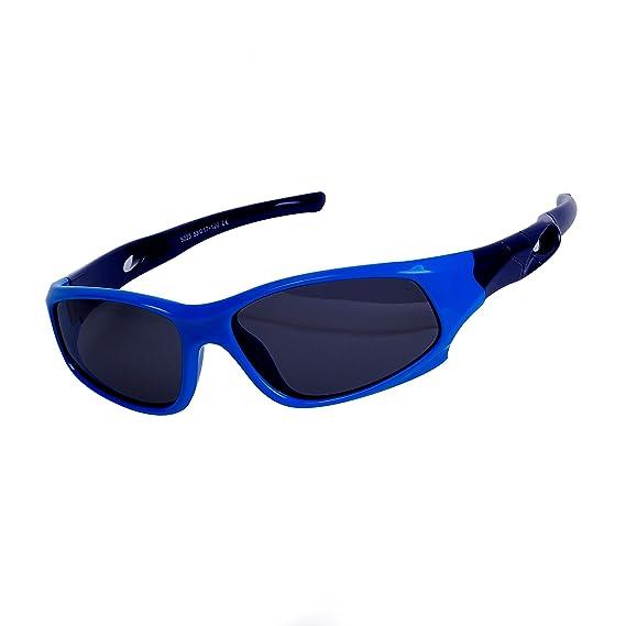 Qixuan QIXU Deportivas Gafas de Sol Niño y Niña (3-12 años) Azul Lentes Polarizadas UV400 Marco Flexible y Caja: Amazon.es: Ropa y accesorios