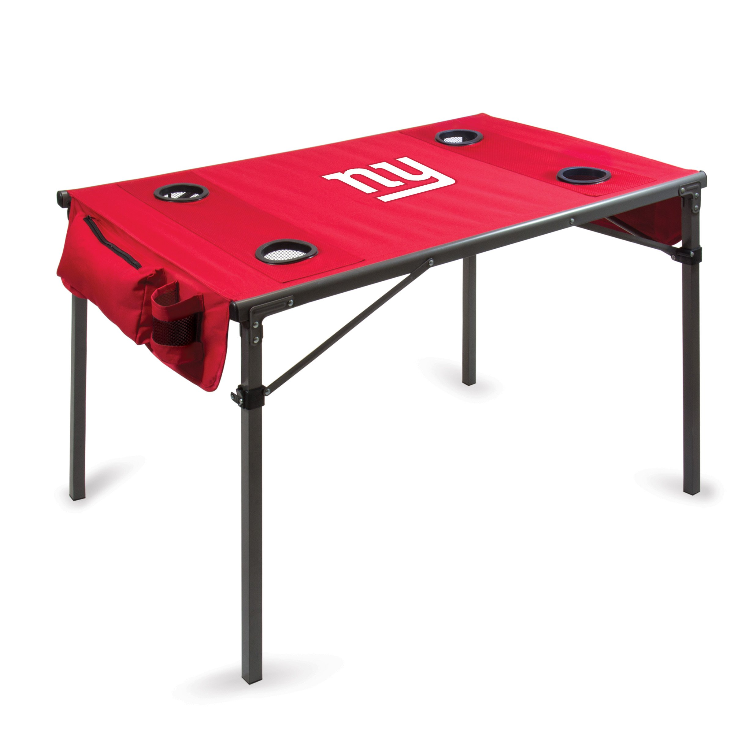 PICNIC TIME NFL New York Giants Portable Soft Top Travel Table, Red