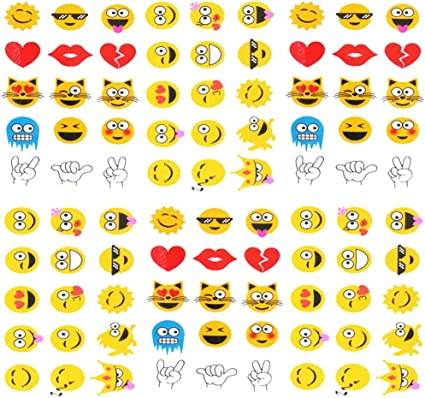 EMOJI PARTY Temporary Tattoos Smiley Face Tattoo Favours Pack of 36 Free Postage